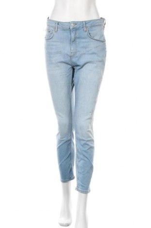 Γυναικείο Τζίν Zara, Μέγεθος L, Χρώμα Μπλέ, 92% βαμβάκι, 6% πολυεστέρας, 2% ελαστάνη, Τιμή 15,77€