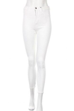 Дамски дънки Zara Trafaluc, Размер S, Цвят Бял, 74% памук, 22% полиестер, 4% еластан, Цена 46,92лв.