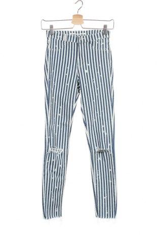 Дамски дънки Zara Trafaluc, Размер XS, Цвят Бял, 64% памук, 33% полиестер, 3% еластан, Цена 23,12лв.