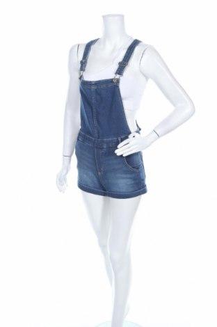 Дамски дънков гащеризон H&M Divided, Размер S, Цвят Син, 79% памук, 20% полиестер, 1% еластан, Цена 22,10лв.