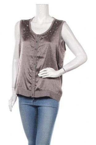 Дамски елек Luisa Cerano, Размер XL, Цвят Сив, 70% вълна, 20% коприна, 10% кашмир, Цена 46,00лв.