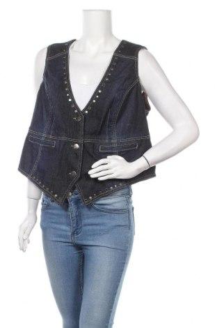 Дамски елек My Style, Размер XXL, Цвят Син, 98% памук, 2% еластан, Цена 11,03лв.