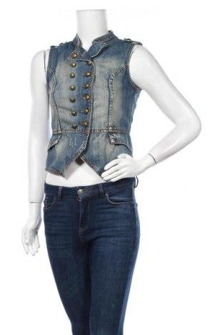 Γυναικείο γιλέκο Only Jeans, Μέγεθος S, Χρώμα Μπλέ, Βαμβάκι, Τιμή 8,96€