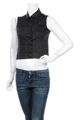 Дамски елек Sisters Point, Размер S, Цвят Черен, 98% памук, 2% еластан, Цена 11,34лв.