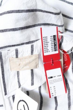 Γυναικεία σαλοπέτα S.Oliver, Μέγεθος M, Χρώμα Λευκό, 55% λινό, 45% βαμβάκι, Τιμή 36,57€