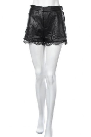 Дамски къс кожен панталон Even&Odd, Размер M, Цвят Черен, Еко кожа, Цена 28,35лв.