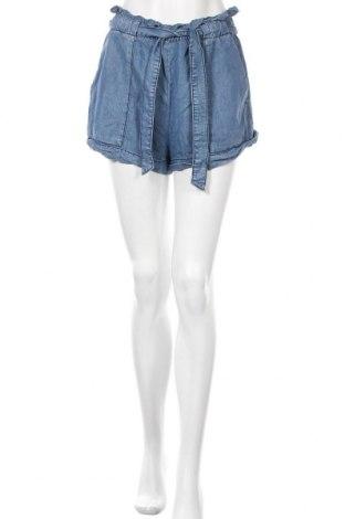 Γυναικείο κοντό παντελόνι H&M Conscious Collection, Μέγεθος M, Χρώμα Μπλέ, Lyocell, Τιμή 11,04€