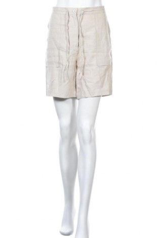 Γυναικείο κοντό παντελόνι H&M L.O.G.G., Μέγεθος L, Χρώμα  Μπέζ, Λινό, Τιμή 11,04€