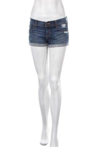 Γυναικείο κοντό παντελόνι Hollister, Μέγεθος S, Χρώμα Μπλέ, 98% βαμβάκι, 2% ελαστάνη, Τιμή 11,69€