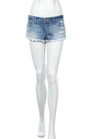 Γυναικείο κοντό παντελόνι Hollister, Μέγεθος M, Χρώμα Μπλέ, Βαμβάκι, Τιμή 11,04€