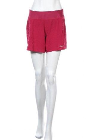Γυναικείο κοντό παντελόνι Saucony, Μέγεθος L, Χρώμα Κόκκινο, 83% πολυεστέρας, 17% ελαστάνη, Τιμή 9,26€