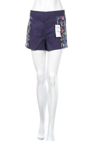 Дамски къс панталон Springfield, Размер L, Цвят Син, Памук, Цена 31,50лв.