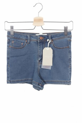 Дамски къс панталон Springfield, Размер XS, Цвят Син, 73% памук, 24% полиестер, 3% еластан, Цена 33,00лв.