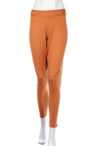 Γυναικείο κολάν Adidas, Μέγεθος XXL, Χρώμα Πορτοκαλί, Τιμή 17,66€