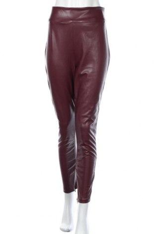Дамски кожен панталон Guess, Размер XL, Цвят Червен, Еко кожа, Цена 87,72лв.