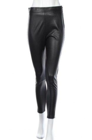 Дамски кожен панталон Pinko, Размер M, Цвят Черен, Естествена кожа, текстил, Цена 161,40лв.