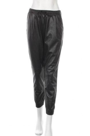 Дамски кожен панталон Zara, Размер S, Цвят Черен, Еко кожа, Цена 33,00лв.