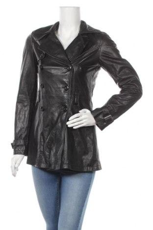 Дамски кожен шлифер James Lakeland, Размер S, Цвят Черен, Естествена кожа, Цена 76,44лв.