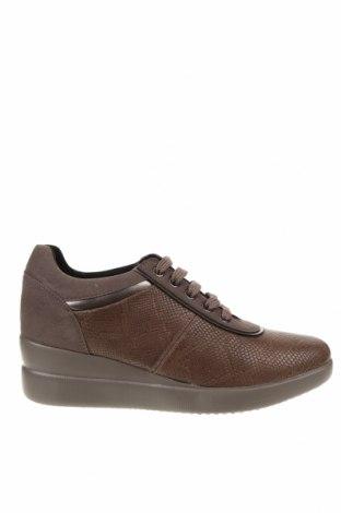 Дамски обувки Geox, Размер 39, Цвят Кафяв, Еко кожа, естествена кожа, Цена 123,37лв.