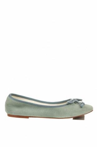 Дамски обувки Geox, Размер 38, Цвят Зелен, Естествен велур, Цена 108,77лв.