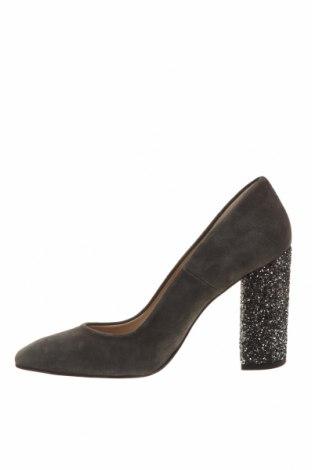 Дамски обувки Hannibal Laguna, Размер 39, Цвят Сив, Естествен велур, Цена 141,75лв.