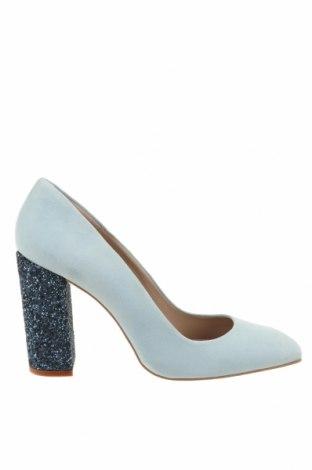 Дамски обувки Hannibal Laguna, Размер 41, Цвят Син, Естествен велур, Цена 49,14лв.