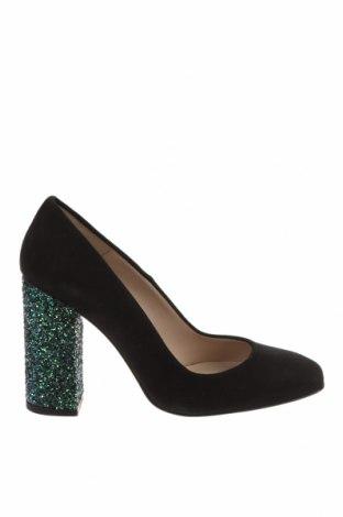 Дамски обувки Hannibal Laguna, Размер 36, Цвят Черен, Естествен велур, Цена 75,60лв.