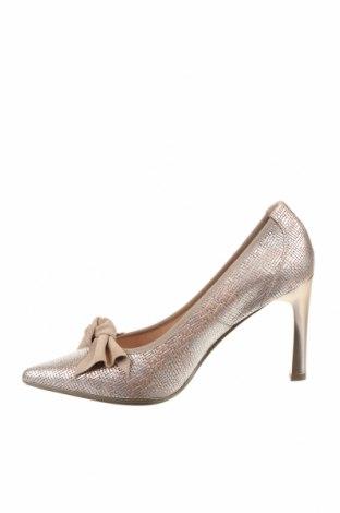 Дамски обувки Hispanitas, Размер 40, Цвят Златист, Естествена кожа, Цена 51,60лв.