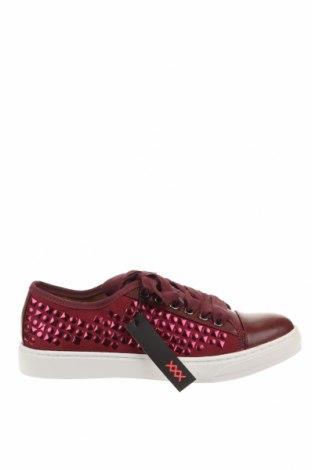 Дамски обувки Maria Mare, Размер 39, Цвят Червен, Еко кожа, текстил, Цена 35,31лв.