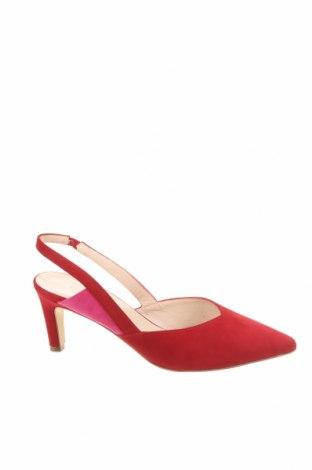 Γυναικεία παπούτσια Peter Kaiser, Μέγεθος 40, Χρώμα Κόκκινο, Φυσικό σουέτ, Τιμή 37,25€