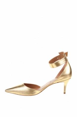 Дамски обувки Pura Lopez, Размер 38, Цвят Златист, Естествена кожа, Цена 64,75лв.