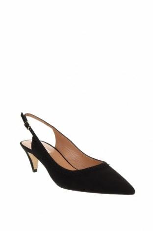 Дамски обувки Pura Lopez, Размер 38, Цвят Черен, Естествен велур, Цена 64,75лв.