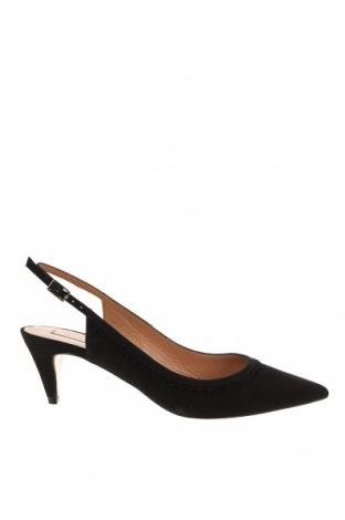 Γυναικεία παπούτσια Pura Lopez, Μέγεθος 37, Χρώμα Μαύρο, Φυσικό σουέτ, Τιμή 60,08€