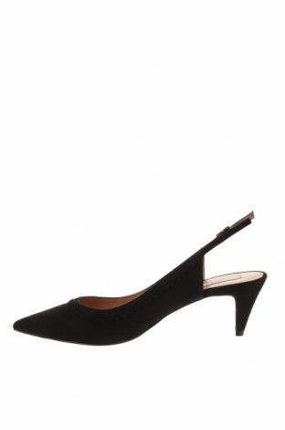 Дамски обувки Pura Lopez, Размер 37, Цвят Черен, Естествен велур, Цена 64,75лв.