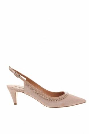 Γυναικεία παπούτσια Pura Lopez, Μέγεθος 37, Χρώμα  Μπέζ, Φυσικό σουέτ, Τιμή 53,40€
