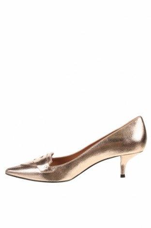 Дамски обувки Pura Lopez, Размер 37, Цвят Златист, Естествена кожа, Цена 64,75лв.