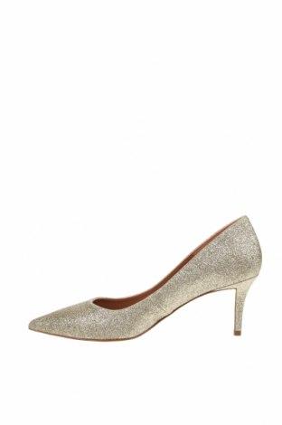 Дамски обувки Pura Lopez, Размер 38, Цвят Златист, Текстил, Цена 52,92лв.