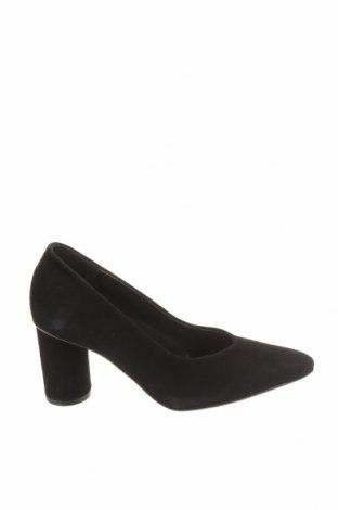 Дамски обувки Selected Femme, Размер 36, Цвят Черен, Естествен велур, Цена 89,25лв.