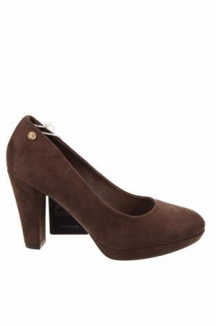 Дамски обувки Xti, Размер 38, Цвят Кафяв, Текстил, Цена 34,09лв.
