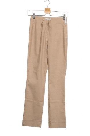 Дамски панталон, Размер XXS, Цвят Бежов, 72% вискоза, 25% полиамид, 3% еластан, Цена 3,00лв.