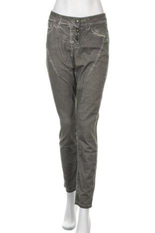 Дамски панталон B.C. Best Connections, Размер M, Цвят Зелен, 97% памук, 3% еластан, Цена 19,85лв.