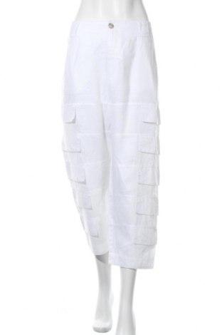 Γυναικείο παντελόνι Bitte Kai Rand, Μέγεθος XL, Χρώμα Λευκό, Λινό, Τιμή 32,08€