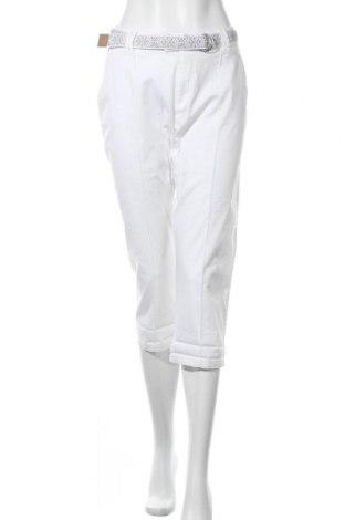 Дамски панталон Charles Vogele, Размер L, Цвят Бял, 98% памук, 2% еластан, Цена 21,84лв.