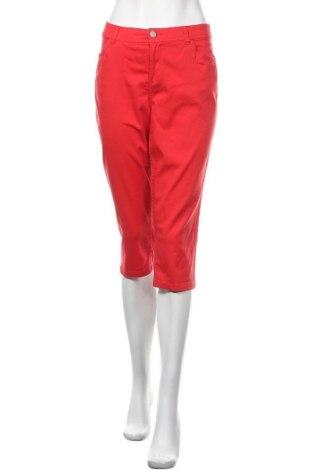 Γυναικείο παντελόνι Charles Vogele, Μέγεθος M, Χρώμα Κόκκινο, 98% βαμβάκι, 2% ελαστάνη, Τιμή 8,22€