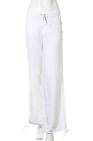 Γυναικείο παντελόνι H&M Divided, Μέγεθος S, Χρώμα Λευκό, Λινό, Τιμή 14,03€