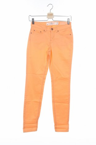 Дамски панталон H&M L.O.G.G., Размер XS, Цвят Оранжев, 98% памук, 2% еластан, Цена 44,25лв.