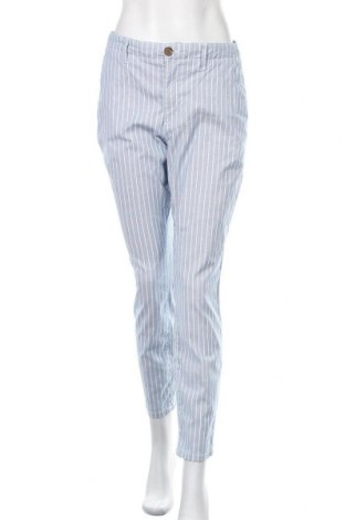 Дамски панталон H&M L.O.G.G., Размер L, Цвят Син, 97% памук, 3% еластан, Цена 23,63лв.