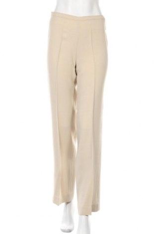 Γυναικείο παντελόνι Max Mara, Μέγεθος S, Χρώμα  Μπέζ, 40% ασετάτ, 32% βισκόζη, 22% μαλλί, 6% πολυαμίδη, Τιμή 52,70€
