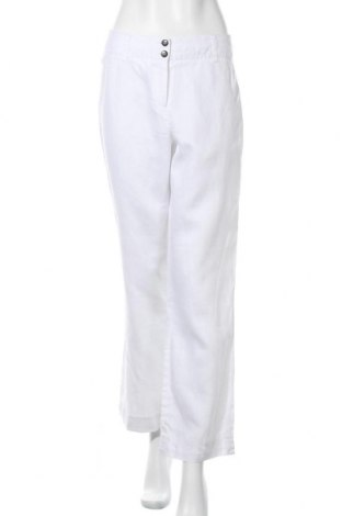 Дамски панталон Nadia Nardi, Размер S, Цвят Бял, Лен, Цена 10,92лв.
