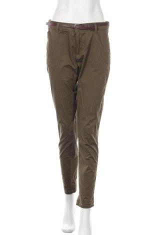 Γυναικείο παντελόνι Reserved, Μέγεθος M, Χρώμα Πράσινο, 98% βαμβάκι, 2% ελαστάνη, Τιμή 15,77€